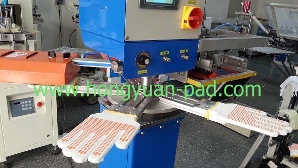 rapid screen printing machine for gloves