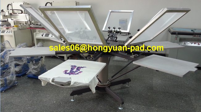 6color t shirt screen printing machine with  micro registration system