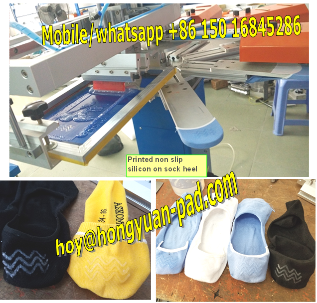 non slip sock silicon printing machine