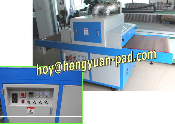 Conveyor belt UV curing machine