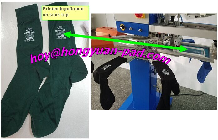 sock brand name printing machine