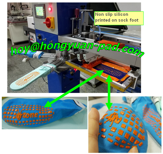 lady sock printing machine | sock foot screen printing machine