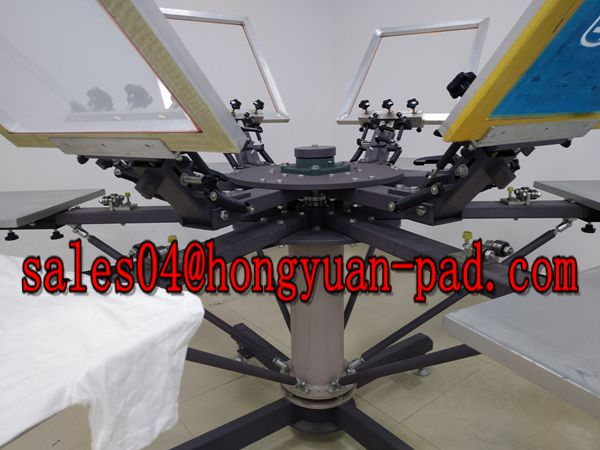double rotary worktable screen printing machine