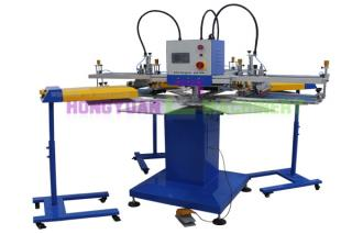 Automatic 3 Colors Screen Printing Machine For Printing T-shirts and Bags